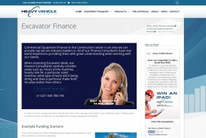 Heavy Vehicle Finance Australia  Excavator Finance